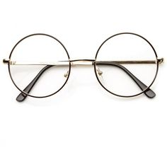 Vintage Lennon Inspired Clear Lens Round Frame Glasses 9222 ($9.99) ❤ liked on Polyvore featuring accessories, eyewear, eyeglasses, glasses, round glasses, vintage eyeglasses, vintage eye glasses, circular glasses and round circle glasses