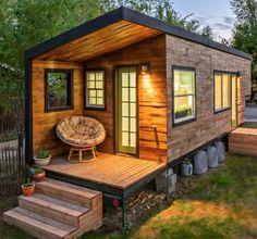 Trailer-turned-tiny-house near Boise, Idaho