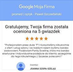 Jak jest czym... to my jak najbardziej 😁😎🥳 #optyk #optometrysta #okulary #oczy #wzrok #badanie #ekspert #zaufanie #promedoptyk #duma #radość #opinia Duma, Google