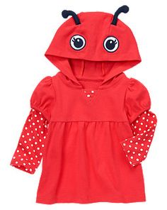 Ladybug Hoodie Top @Gymboree! I could just eat this up!!! :)