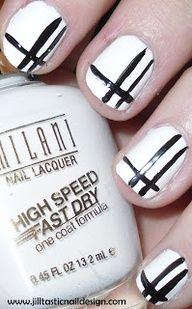Jilltastic Nail Design  More: Black and White Nail Art www.jilltasticnai...