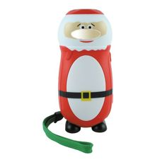 Ecotronic Santa Torch - Kerstman knijpkat zaklamp.  Real fun flashlight by @greenenergytoys .    A revolution in torch technology. Simply squeeze the handle and it powers up to light the way! Using clever dynamo technology and with a fully rechargeable battery that never needs replacing.