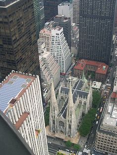 NYC. St. Patrick's Cathedral, the neo-gothic heart of Manhattan