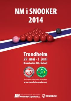 Poster for the Norwegian Championship in snooker!