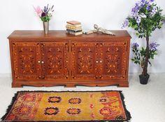 antik Massivholz Schrank Sideboard Anrichte Kommode cabinet lowbord intarsien | eBay