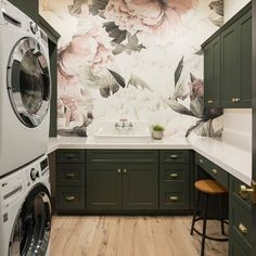 """Explore our internet site for more details on """"laundry room storage diy shelves"""". It is actually an exceptional area to read more. Pink Laundry Rooms, Laundry Room Organization, Laundry Room Design, Laundry Storage, Laundry Drying, Laundry Closet, Laundry Room Wallpaper, Laundry Cabinets, Diy Cabinets"""