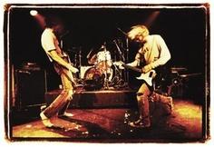Nirvana performing live.