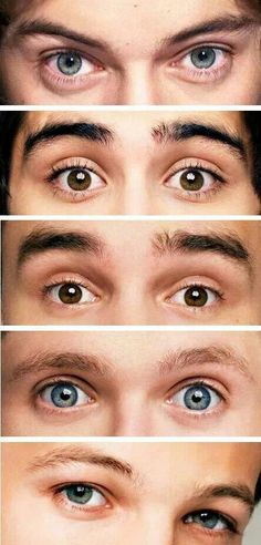 One Direction:) You know your a directioner if you can tell their eyes apart:)<<< I can tell them apart:)<3>>>>> it would be sad if you couldn't>>>>the first thing I did was go straight for Niall's eyes