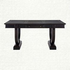Athens Writing Desk In Tuxedo Black | Arhaus Furniture