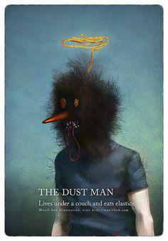 Wonil aka Wonil Suh (South Korea) - The Dust Man, 2008 Mixed Media Artist, Movies, Movie Posters, Painting, Mixed Media, South Korea, Couch, Sun, Illustrations