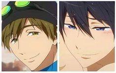 stop giving me breathing problems tank ye very much Rin Matsuoka, Makoto Tachibana, Makoharu, Hot Anime Boy, Anime Guys, Momotarou Mikoshiba, Rei Ryugazaki, Haru And Makoto, Hakkenden