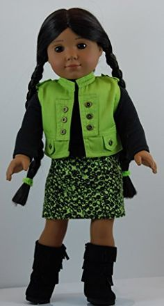 Lime Green & Black 5 pc Skirt Outfit includes Boots and fits 18 inch American Girl Dolls. Doll Clothes Shop http://www.amazon.com/dp/B00L18HKV2/ref=cm_sw_r_pi_dp_-5hjub08DSMDN