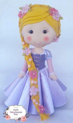 Princesa Rapunzel de feltro