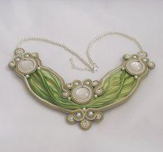 Soutache necklace. Silk shibori necklace by by MollyGDesigns