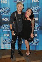 "07 April 2016 - Hollywood, California - James Durbin, Heidi Durbin. Arrivals for FOX's ""American Idol"" Finale For The Farewell Season held at The Dolby Theater. Photo Credit: Birdie Thompson/AdMedia"