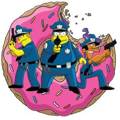 Simpsons Cops by fillmarc on DeviantArt The Simpsons Tv Show, Lego Simpsons, Simpsons Cartoon, Simpsons Characters, Simpsons Frases, Pokemon Jigglypuff, Best 90s Cartoons, Simpsons Drawings, Film Poster Design