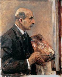 Self-Portrait with Palette - Max Liebermann