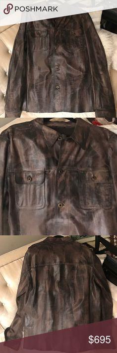 Men's Limited Edition Miu Miu 100% Leather Jacket Excellent condition✨✨✨✨✨ Miu Miu Limited Edition  men's line🌟🌟🌟🌟🌟 Miu Miu Jackets & Coats