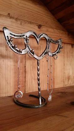 Horseshoe necklace holder | My Horseshoe crafts ...