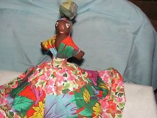 St Lucia Doll-Hand Sewn-Caribbean-Folk Art Doll flip her fro different head