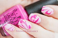 Pink water marble  #nail #nails #nailsart