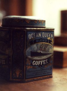 Just saw this photo on flickr and I have this tin!  Love the image on it and it's dark turquoise color.