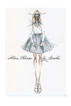 fashion illustration fashion weeks 0 fabulous muses alina tanasa and diana enciu (3) by diana.enciu, via Flickr