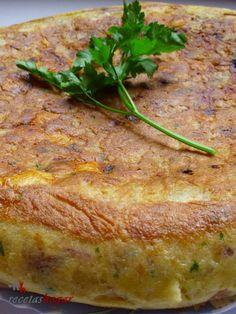 Tortilla de patatas española Wine Recipes, Low Carb Recipes, Appetizer Recipes, Appetizers, Chilean Recipes, Spanish Food, Some Recipe, Morning Food, Food And Drink
