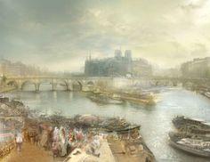 "Hiroyuki Masuyama ""J.M.W.Turner, The Pont Neuf and the Ile de la Cité"" 1833 www.hiroyukimasuyama.com"