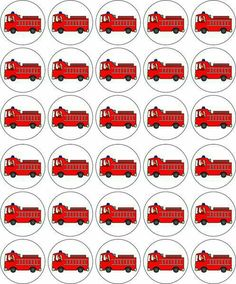 Decorations & Cake Toppers Home, Furniture & DIY Fireman Party, Firefighter Birthday, Fireman Sam, Birthday Cup, Circus Birthday, Birthday Parties, Fire Engine Cake, Edible Printing, Party Activities