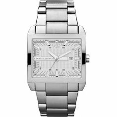 daa503798ed Armani Exchange Silver Dial Stainless Steel Mens Watch AX2201 Relógios  Masculinos