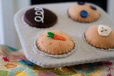 Etsy Transaction - DIY Felt Cupcake Muffin Baking Set...Play Food...PDF Pattern