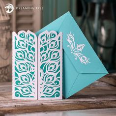 Peacock Gatefold Card SVG