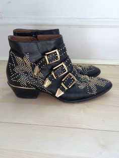 chloe susan boots black studded *zucht