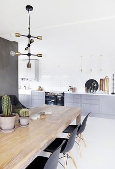 let there be light |  Gorgeous Kitchen with House Doctor Pendant