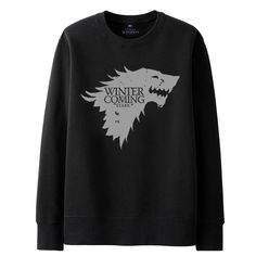 Anime Gam Genesis Soft Sweater Long Sleeve Pullover for Mens Black
