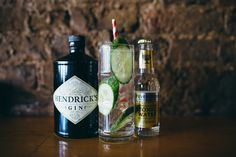 Hendrick's Gin, with fresh cucumber & Fever Tree Indian Tonic
