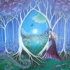 A fairytale art print Secret Garden by Amanda by earthangelsarts
