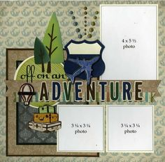 Oh the places you'll scrap! This 2-page spread is perfect for all of your adventurous travels. Embellishments include: cork, enamel...