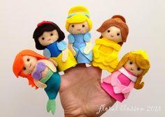 ARTE CON QUIANE - Paps, Moldes, EVA, fieltro, cosido, Fofuchas 3D: La inspiración del momento ... Princesas Disney