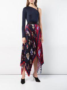 2509b28ea Shop Yigal Azrouel Floral Pleated Handkerchief Skirt Handkerchief Skirt