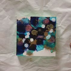 Alcohol ink mini painting Mini Paintings, Blues, Layers, Alcohol, Ink, My Love, Creative, Gold, Instagram