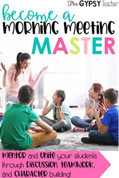 Become a Morning Meeting Master with this FREE video training series, sent directly to you!! No gimmicks, no one-hit wonders...just pure classroom community-building, social-emotional learning, respect-encouraging strategies and ideas that you can implement in your classroom right away! #morningmeeting #responsiveclassroom #thegypsyteacher #freetraining #teacher #classroomcommunity