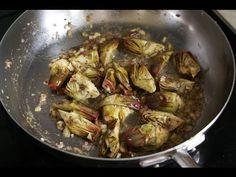 Artichauts poivrade - recette d'artichauts poivrade sautés (artichauts violets de provence) par Chef Simon
