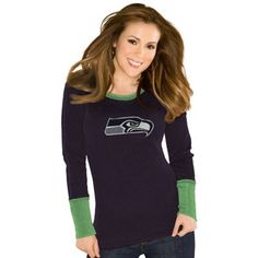 Seattle Seahawks Touch by Alyssa Milano Ladies Kari Thermal – College Navy