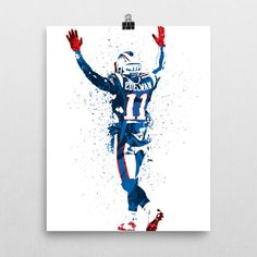 Julian Edelman poster. Edelman is an American football wide receiver for the New…