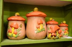 Mushrooms..I remember making this ceramic set and thought it was the coolest thing, until I grew tired of them.