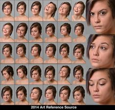 Keslina 30 Facial Expressions Stock Comm Use OK by ArtReferenceSource on DeviantArt
