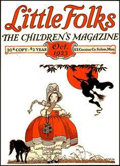 Little Folks--Children's Magazine--Vintage Halloween Cover