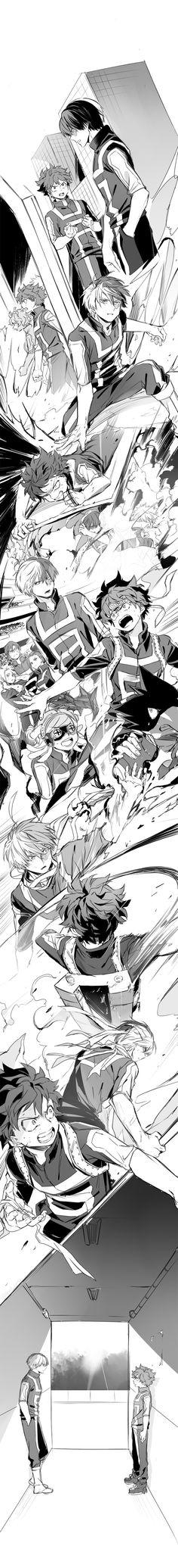 Boku no Hero Academia || Ashido Mina, Midoriya Izuku, Todoroki Shouto, Katsuki Bakugou, Kaminari Denki, Tenya Iida, Momo Yaoyorozu, Hatsume Mei, Fumikage Tokoyami.